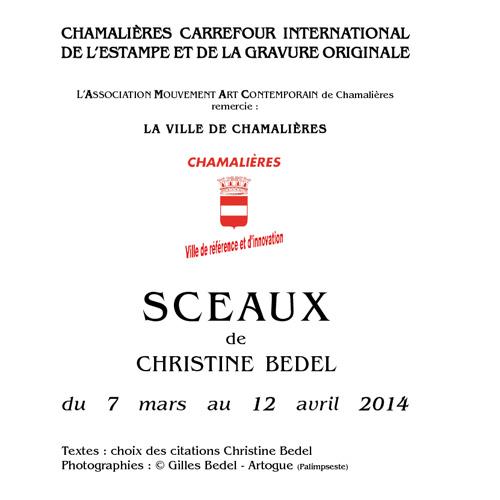 Catalogue exposition Christine BEDEL à l'AMAC - Chamalières
